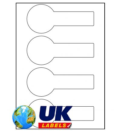 UK Labels Jar Labels - Commercial - A4 Sheet Labels